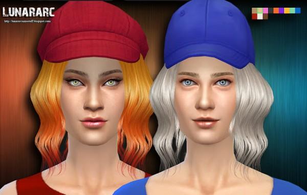 Lunararc Sims: Eleina Hairstyle for Sims 4
