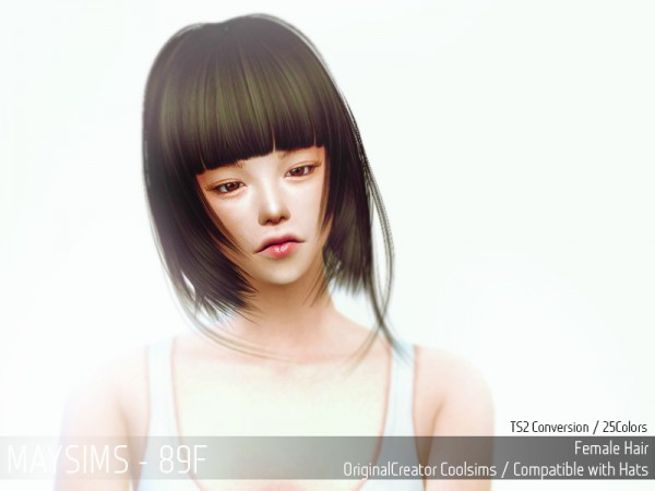MAY Sims: May 89F hairstyle retextured for Sims 4
