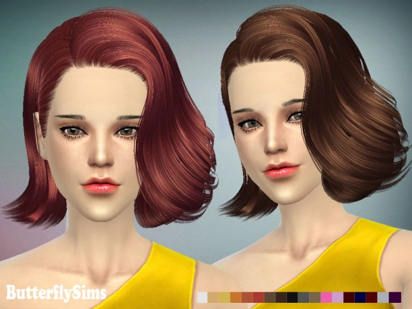 Butterflysims: Hairstyle 086 for Sims 4