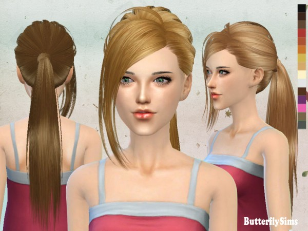 Butterflysims: Hairstyle151 no hat for Sims 4