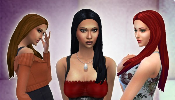 Mystufforigin: Glossy Hair for Sims 4