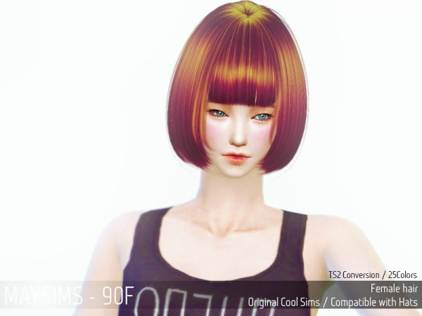 MAY Sims: May 90F hairstyle retextured for Sims 4
