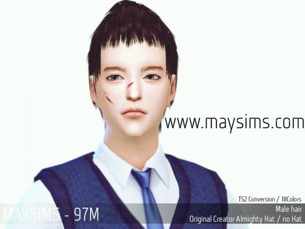 MAY Sims: May Hairstyle 97M for Sims 4