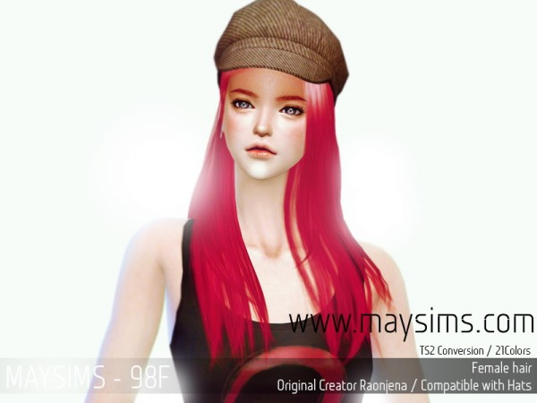MAY Sims: May Hairstyle 98F for Sims 4