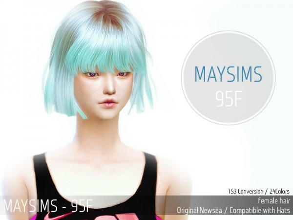 MAY Sims: May Hairstyle 95F retextured for Sims 4