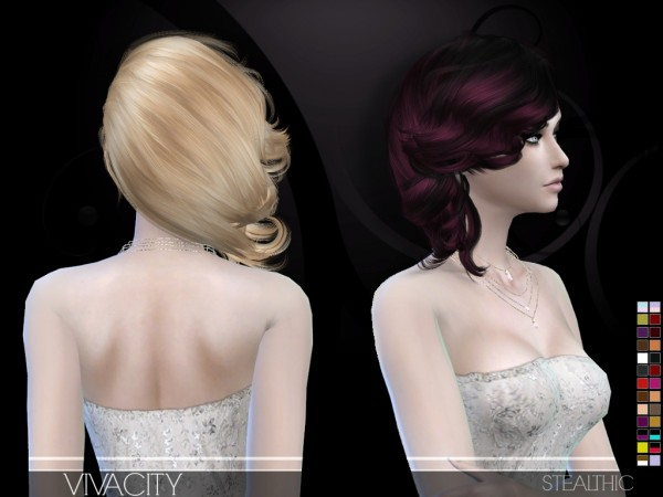 Stealthic: Vivacity hairstyle for Sims 4