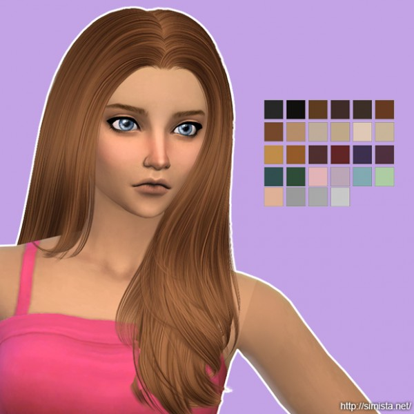 Simista: Nightcrawler`s Invisible Light Hairstyle Retextured for Sims 4