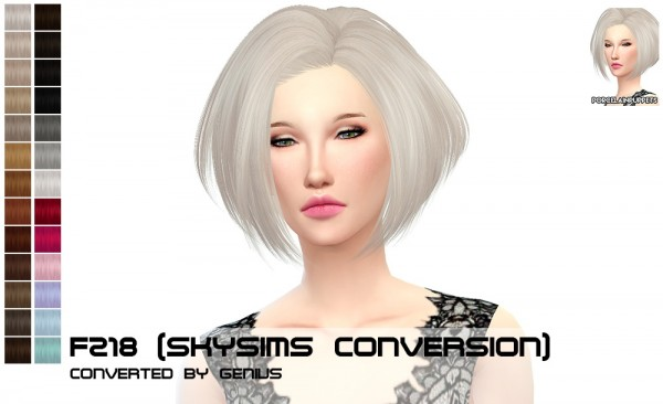 Porcelain Warehouse: Newsea`s Titanium and Skysims F218 hairstyles retextured for Sims 4