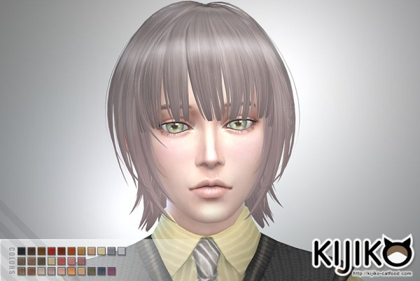 Sims 4 Hairs Kijiko Sims Bob With Straight Bangs For Him