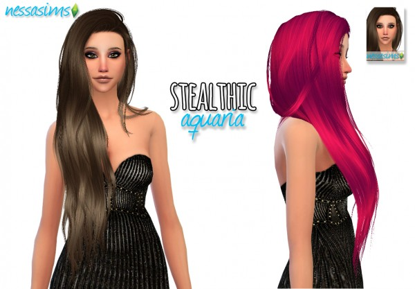 Nessa sims: Stealthic Aquaria Hairstyle Retextured for Sims 4