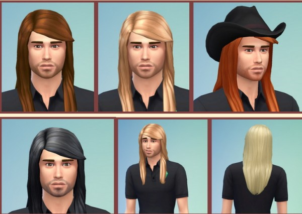 Birksches sims blog: Long Straight Hairstyle for Sims 4