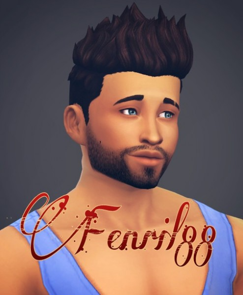 Fenrilsims: Barry hairstyle for Sims 4