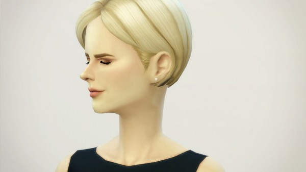 Rusty Nail: Bangs side swept V3 hairstyle retextured for Sims 4