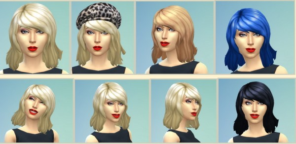 Birksches sims blog: Blondie Hairstyle for Sims 4