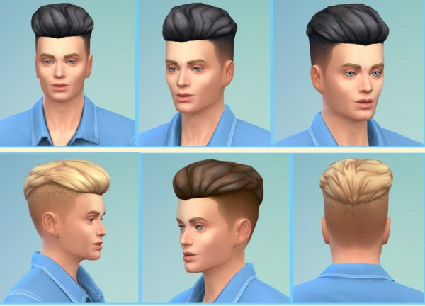 Birksches sims blog: Stylish shaved hairstyle for Sims 4
