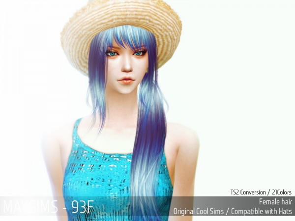 MAY Sims: May Hairstyle 93F retextured for Sims 4
