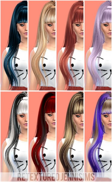 Jenni Sims: Butterfly`s 029 hairstyle retextured for Sims 4