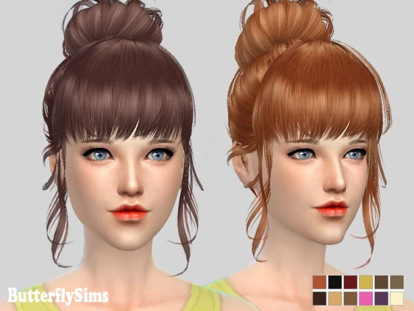Butterflysims: Hairstyle 153 for Sims 4