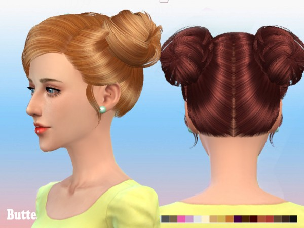 Butterflysims: Hairstyle 078 for Sims 4