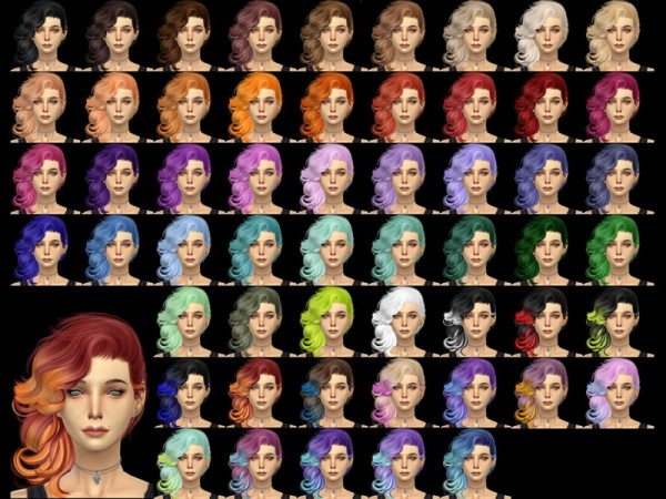 The Sims Resource: Stealthic Vivacity hairstyle retextured for Sims 4