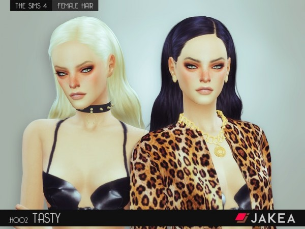 The Sims Resource: JAKEA   H002   TASTY hairstyle for Sims 4