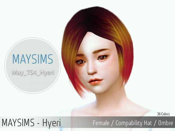 MAY Sims: Hyeri hairstyle for Sims 4