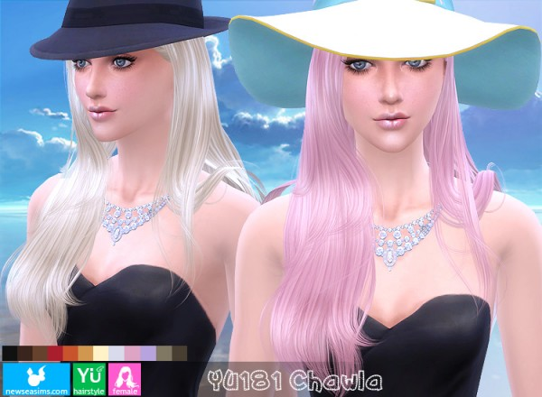 NewSea: YU181 Chawla hairstyle for Sims 4