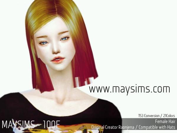 MAY Sims: May Hair 100F.7z for Sims 4