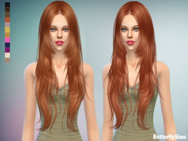 Butterflysims: Hairstyle 018CF NO hat for Sims 4