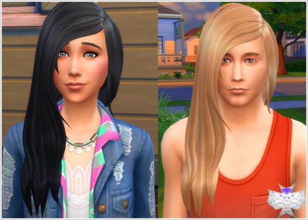David Sims: Rock Hairstyle for Sims 4
