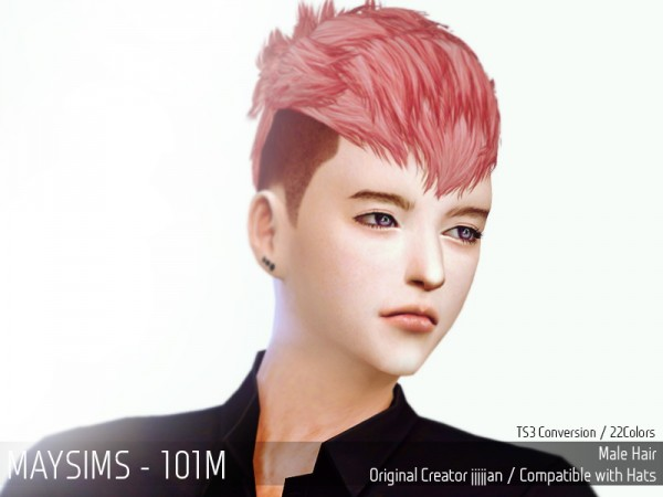 MAY Sims: May Hairstyle 101M for Sims 4