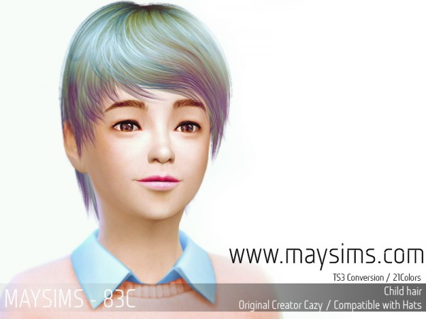 MAY Sims: May Hairstyle 83C.7 for Sims 4