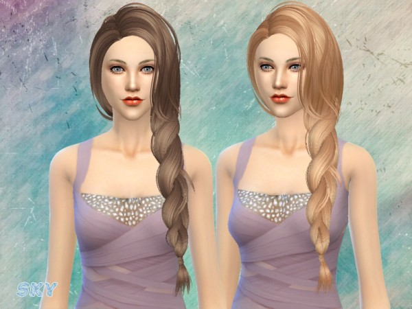The Sims Resource: Hairstyle 155 Ailisa by Skysims for Sims 4