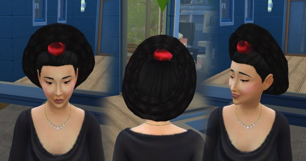 Mystufforigin: Hairstyle 070908 conversion for Sims 4