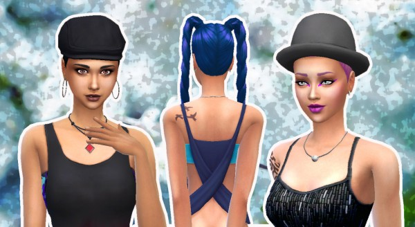 My Happy Ending: Long Braids for Sims 4