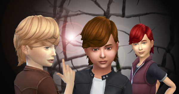 Mystufforigin: Long Ear Tuck hairstyle for Sims 4