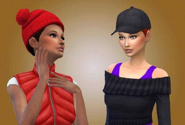 Mystufforigin: Angel bun hairstyle for Sims 4