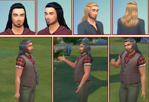 Birksches sims blog: Halfup for Men for Sims 4