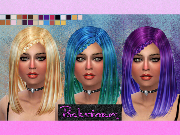 The Sims Resource: Alesso`s Circus Hairstyle by Pinkstrom42 for Sims 4