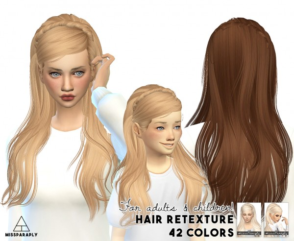 Miss Paraply: Maysims 04F hairstyle retextured for Sims 4