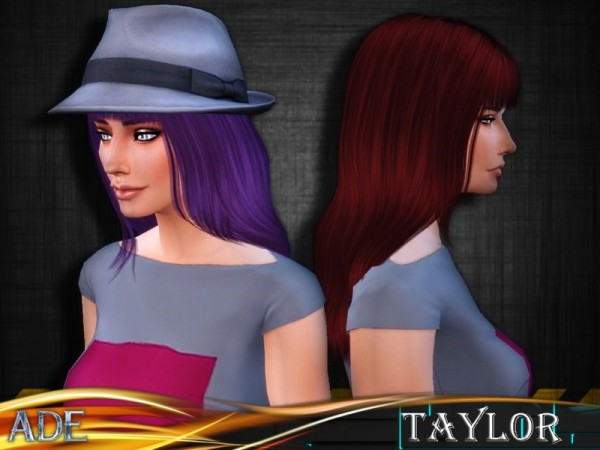 The Sims Resource: Taylor hairstyle by Ade Darma for Sims 4