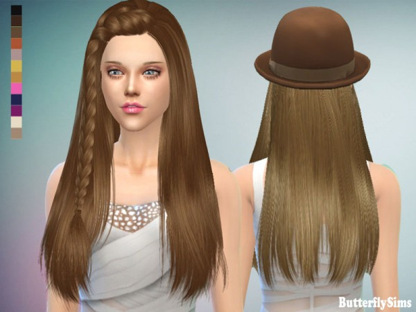 Butterflysims: Hairstyle 152 for Sims 4
