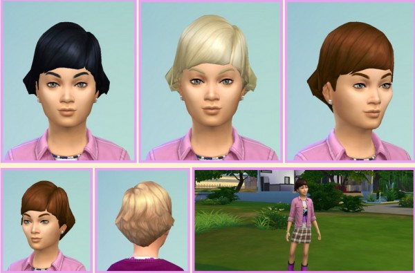 Birksches sims blog: Audrey hairstyle for Sims 4