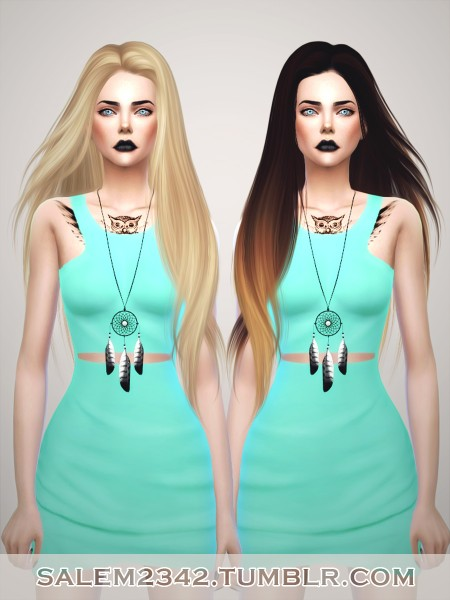 Salem2342: Skysims  251 hairstyle retextured for Sims 4