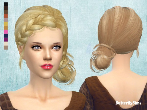 Butterflysims: Hairstyle 092 No hat for Sims 4