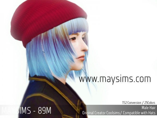 MAY Sims: May 89M Hairstyle retextured for Sims 4