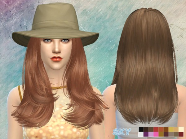 The Sims Resource: Hair 089 Cassie hairstyle for Sims 4