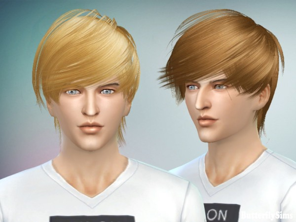 Butterflysims: Hairstyle 023 NO hat for Sims 4