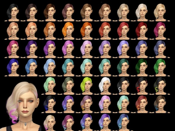 The Sims Resource: Alesso`s Aphrodite hairstyle retextured by Taty for Sims 4