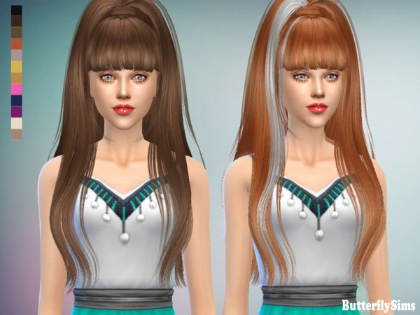 Butterflysims: Hairstyle 029 No hat for Sims 4